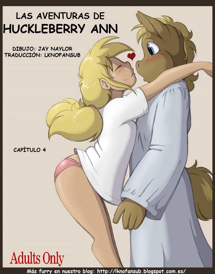 Las aventuras de Huckleberry Ann 4 Sexo furry interracial