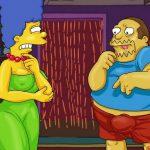 Los simpsons xxx Marge Homero y el tipo de las historietas