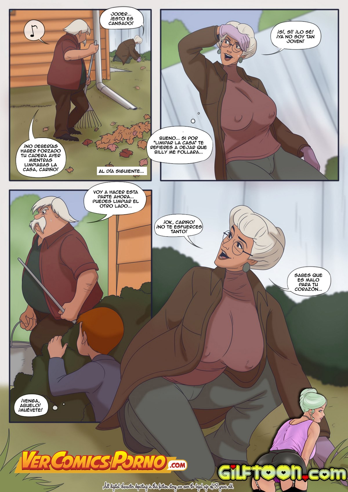 Nieto follando con abuela en secreto