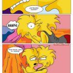 Los Simpsons Lisa y Maggie teniendo una aventura lésbica
