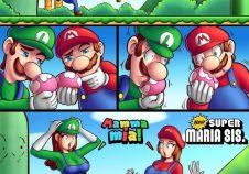Mario y Luigi se convierten en chicas y son folladas por Bowser