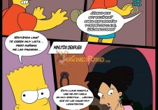 Bart y Amy Wong de Futurama follando!