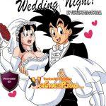 Goku y su Esposa MIlk hacen el amor después de la boda