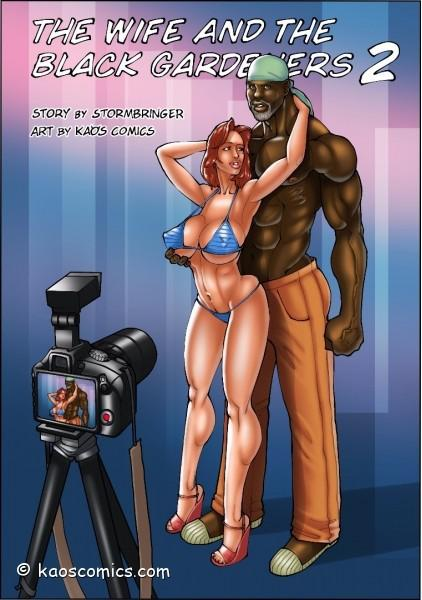 The wife and the black Gardeners 2 Interracial parte 1