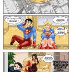 Superman y supergirl en un comic XXX